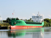 Arklow Fame entering Latchford Locks 31st August 2018