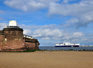 Atlantic Sun passing Fort Perch Rock