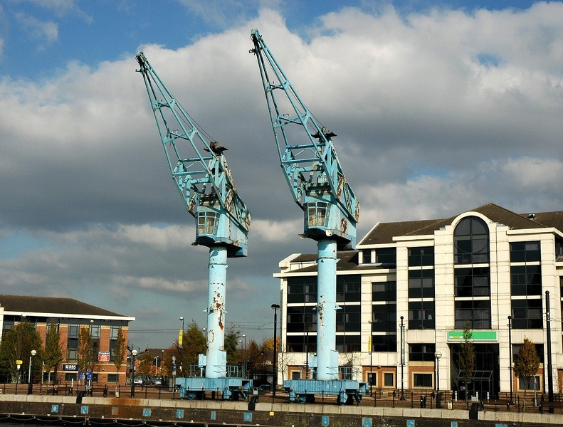 Preserved cranes at the former No8 Dock