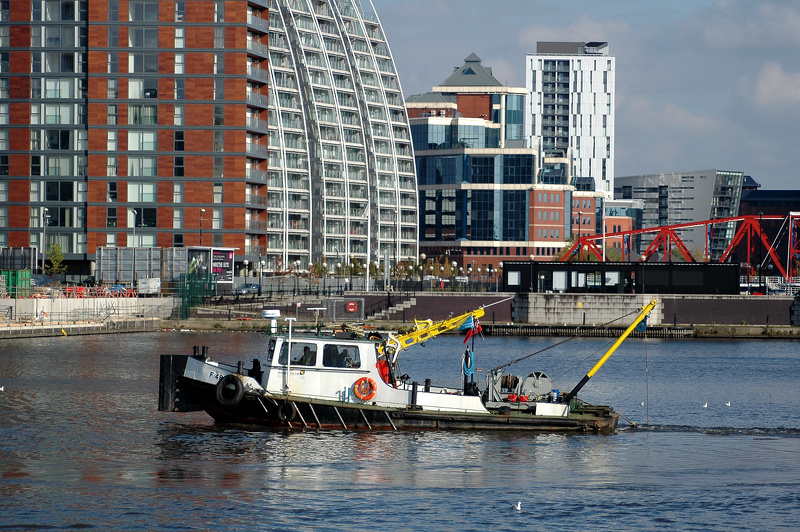 Westminster Dredging Co vessel F48 at Salford Quays