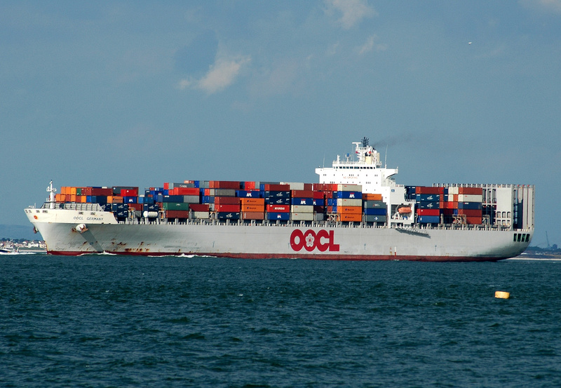 OOCL Germany  IMO 9214214 66289gt Built 2000 Container Ship Flag Liberia