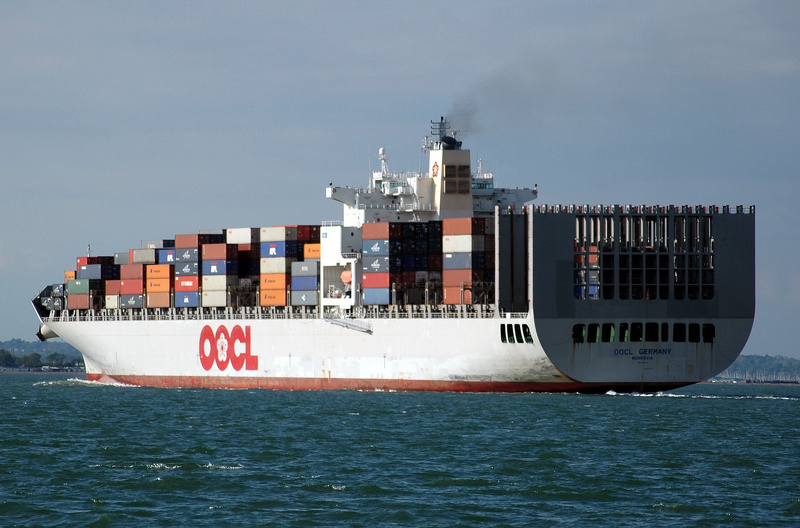 OOCL Germany passing Cowes